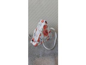 Trianglová dizajnová kabelka Vlčí mak