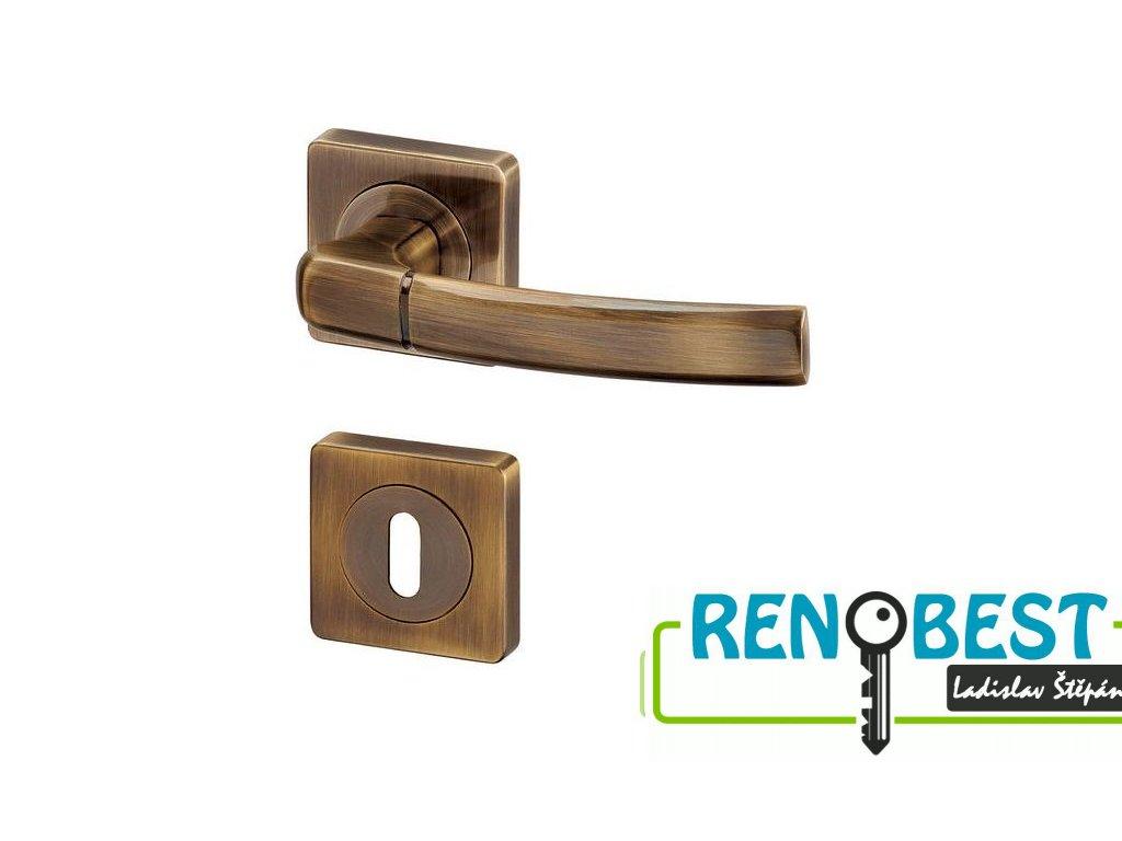 Dveřní kování KIEL R HR bronz