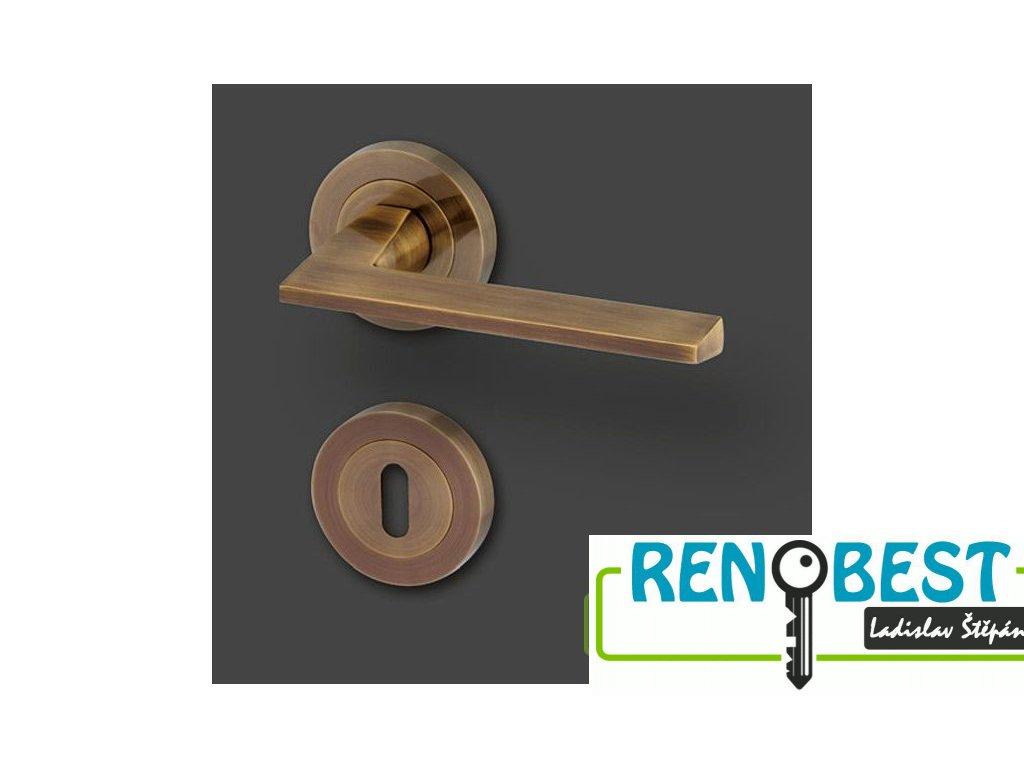 Dveřní kování DRESDEN R bronz