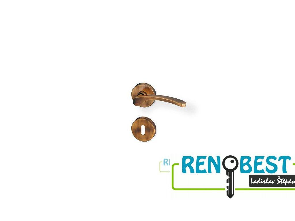 Dveřní kování JANA R bronz PK