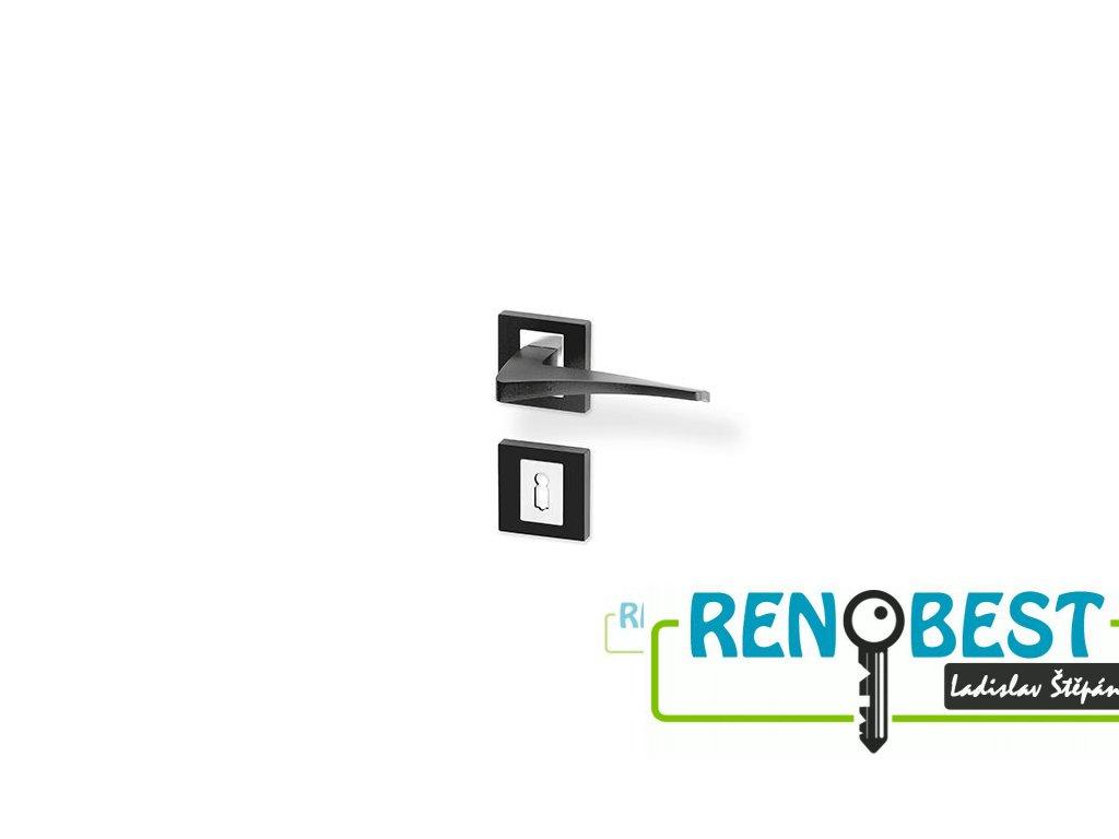 Dveřní kování RONAN R HR černý lak/efekt nerez KK