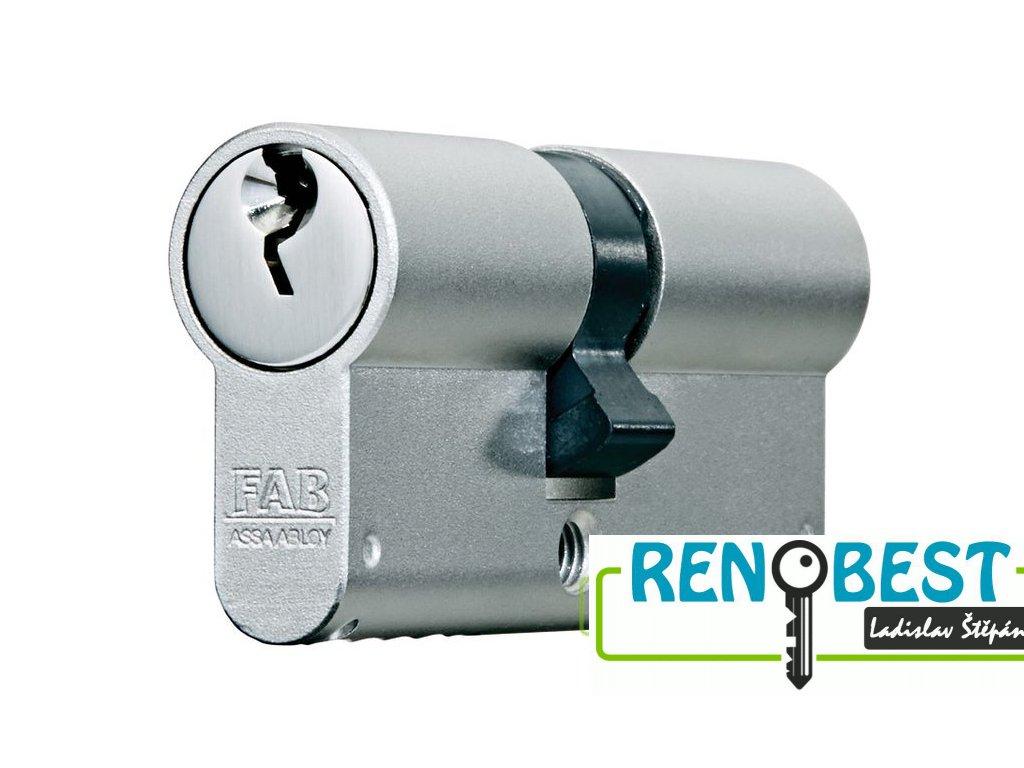 Vložka cylindrická bezpečnostní FAB 1000 U4BDNs 50+prodloužení Ni