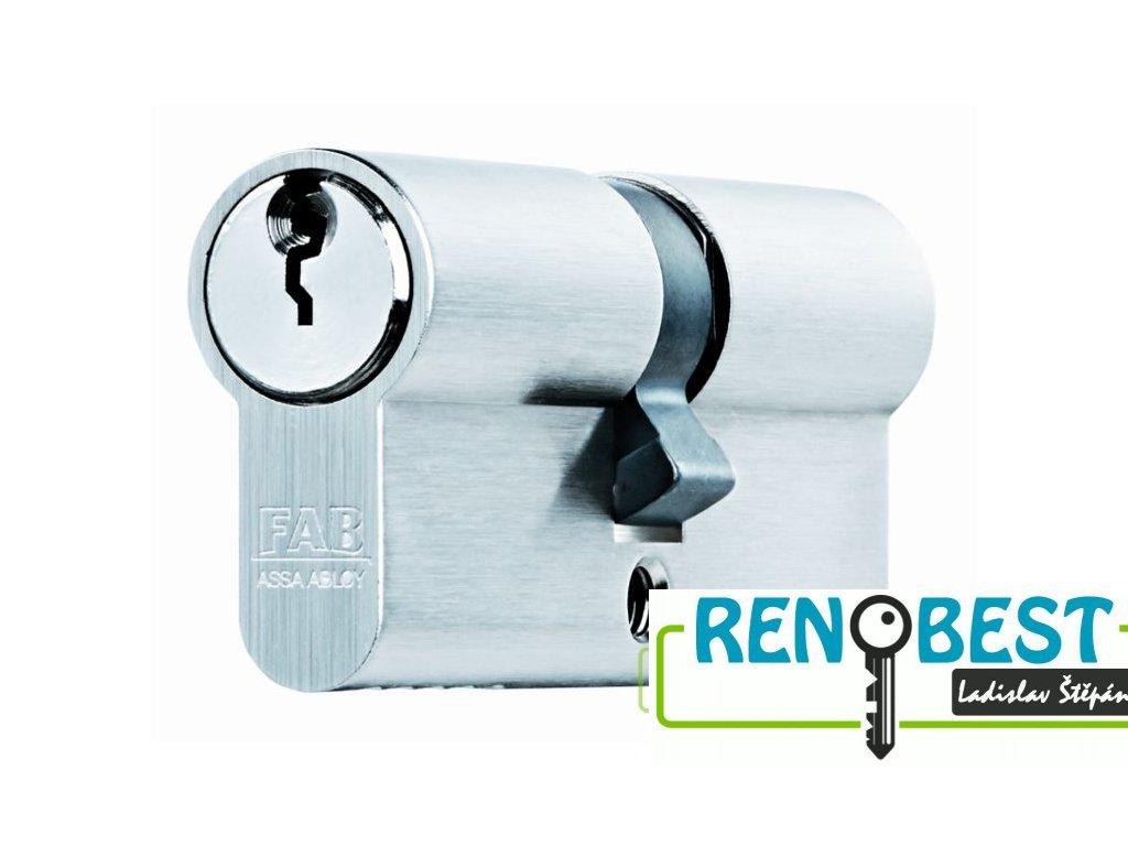 Vložka cylindrická bezpečnostní FAB 200 RSDN 50+prodloužení Ni
