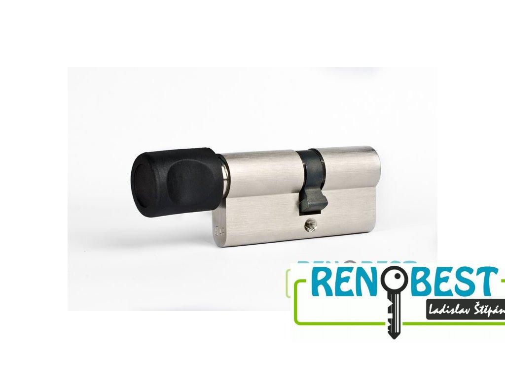 Vložka cylindrická bezpečnostní s knoflíkem FAB 202 RSDN 35+prodloužení Ni