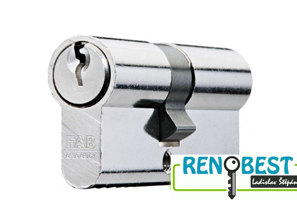 Vložka cylindrická dveřní stavební FAB 50 DN 45+prodloužení Ni