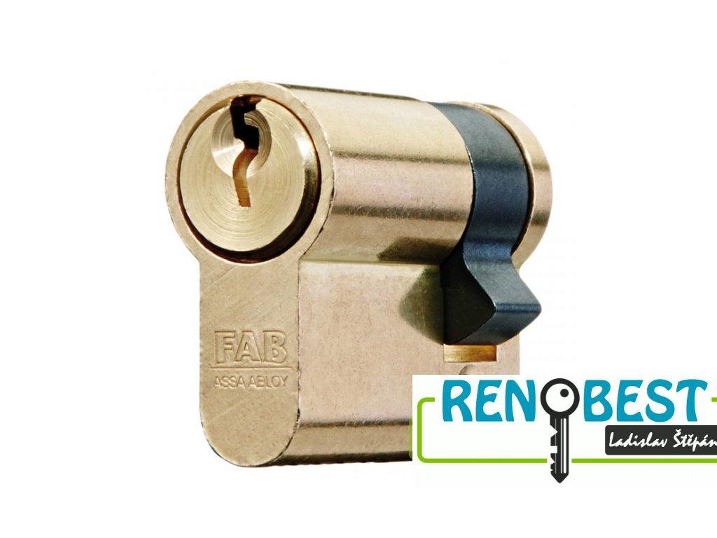 Vložka cylindrická dveřní stavební jednostranná FAB 51 D Ms