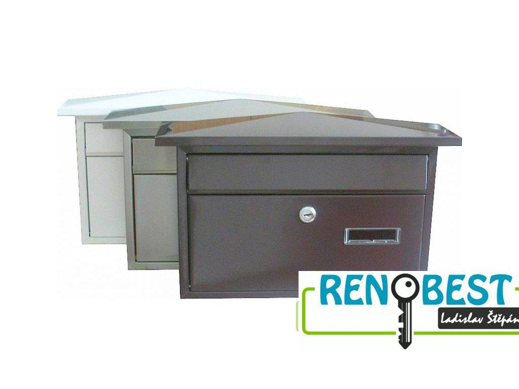Poštovní schránka KT02 různé barvy