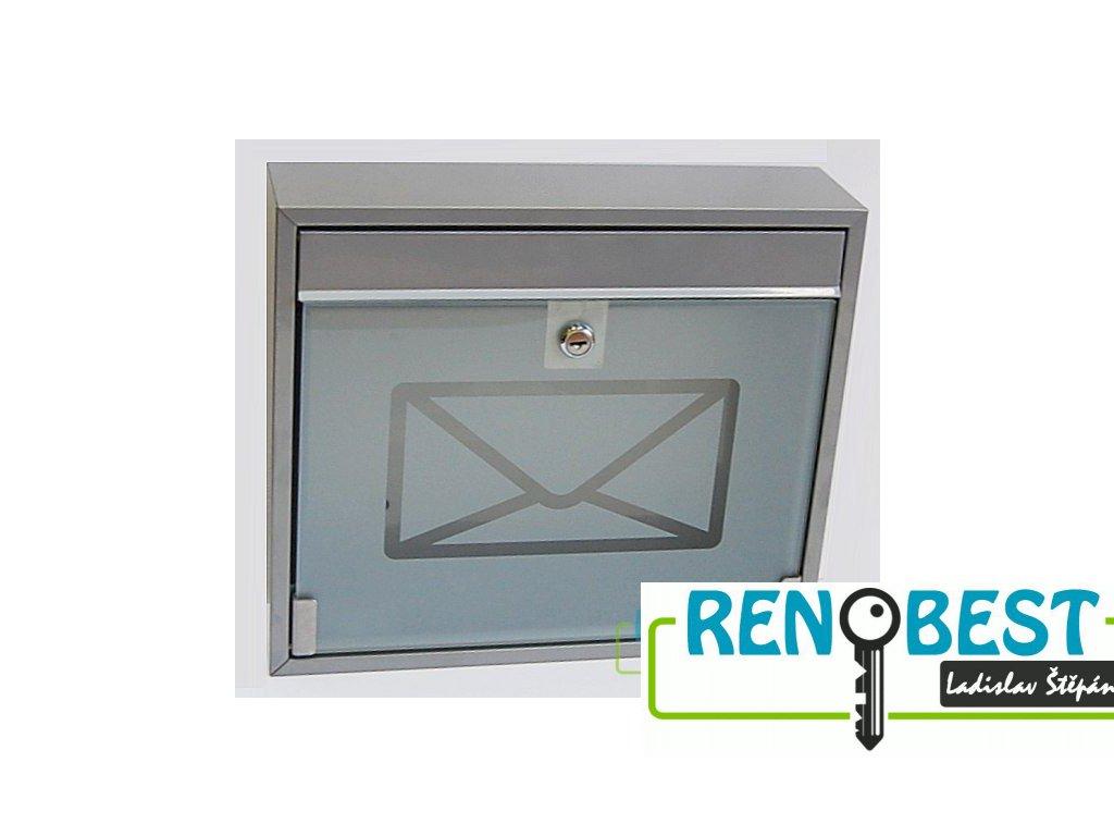 Poštovní schránka KVIDO se sklem