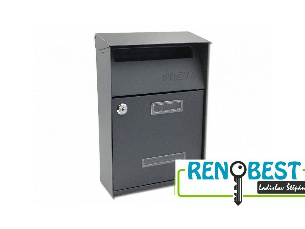 Poštovní schránka SIMON antracit