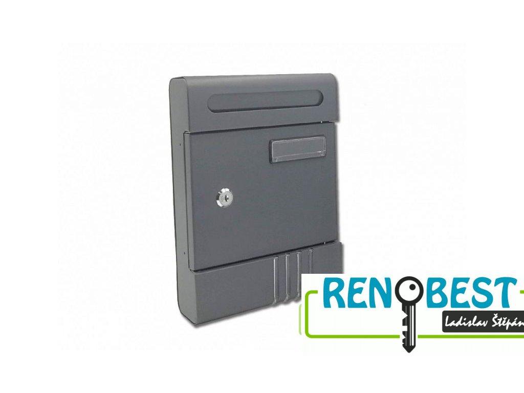Poštovní schránka ROBERT-M antracit