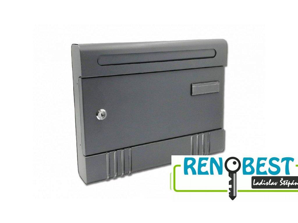 Poštovní schránka ROBERT-V antracit