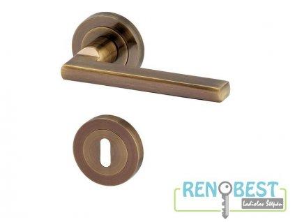 Dveřní kování LEIPZIG R bronz