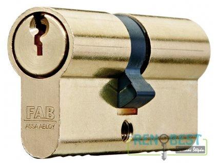 Vložka cylindrická dveřní stavební FAB 100 Ms