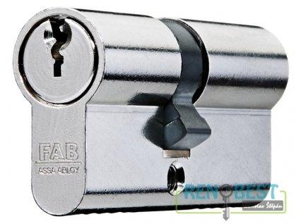 Vložka cylindrická dveřní stavební FAB 100 Ni