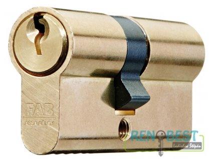 Vložka cylindrická dveřní stavební FAB 50 D 30+prodloužení Ms
