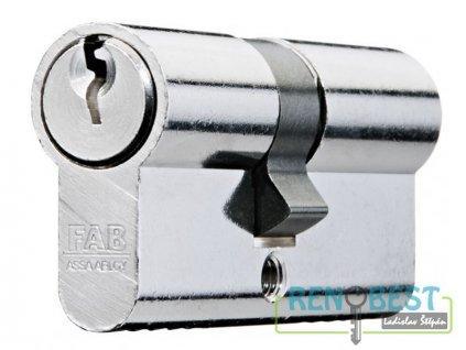 Vložka cylindrická dveřní stavební FAB 50 DN 30+prodloužení Ni