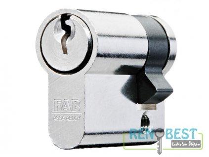 Vložka cylindrická dveřní stavební jednostranná FAB 51 DN Ni