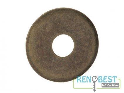 Podložka pod kukátko dveřní 180° bronz