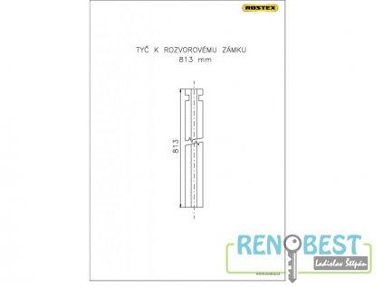 Tyč rozvorová 813 mm k zámku ROSTEX 701 a 702