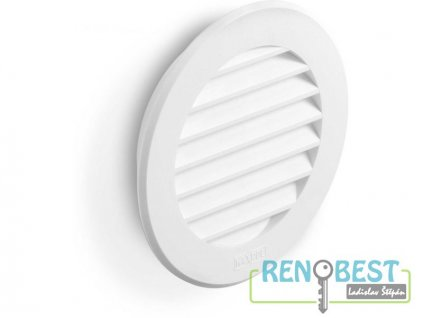 Mřížka větrací ACT plastová kulatá 80 mm bílá - Doprodej zboží na dotaz