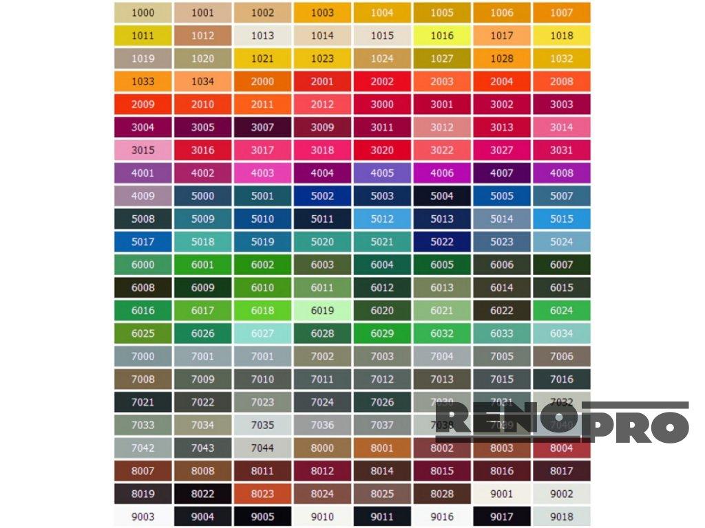 vzorniky barev ral