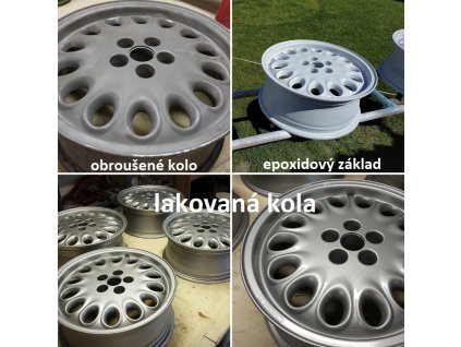 Stříbrná barva na ALU kola 500 ml