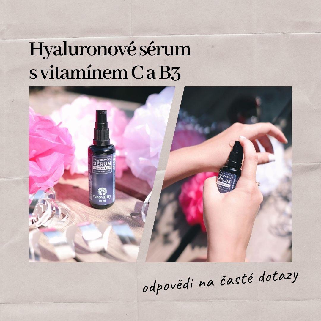 NOVINKA Hyaluronové sérum s vitamínem C a B3