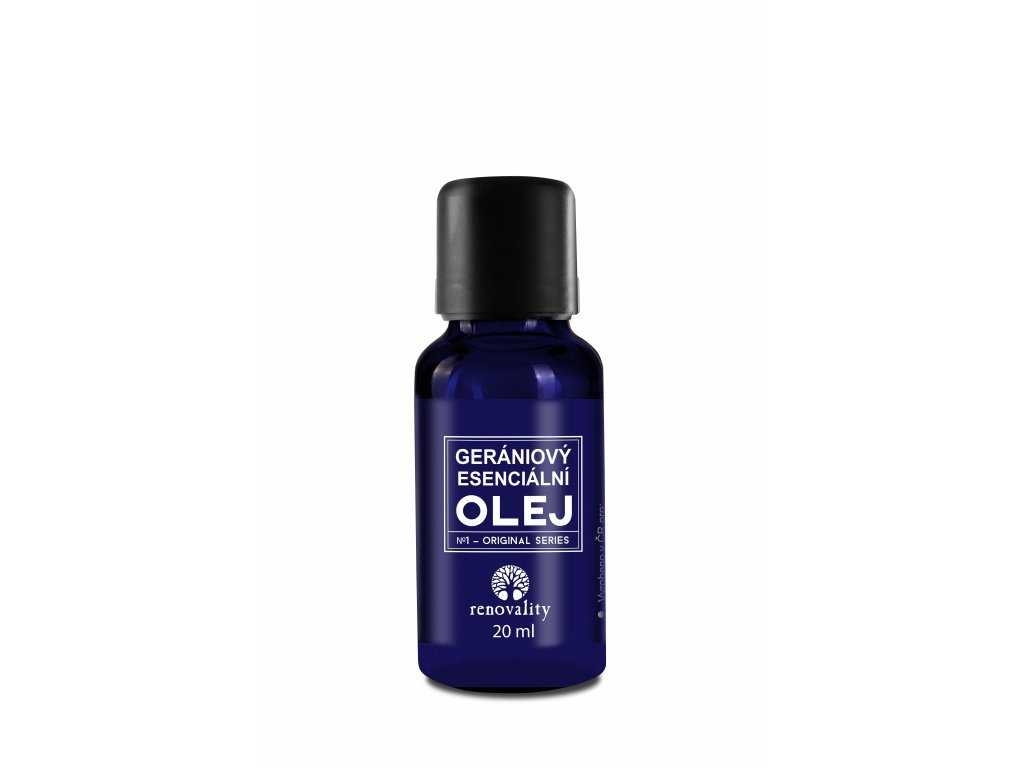Gerániový esenciální olej 20 ml s kapátkem