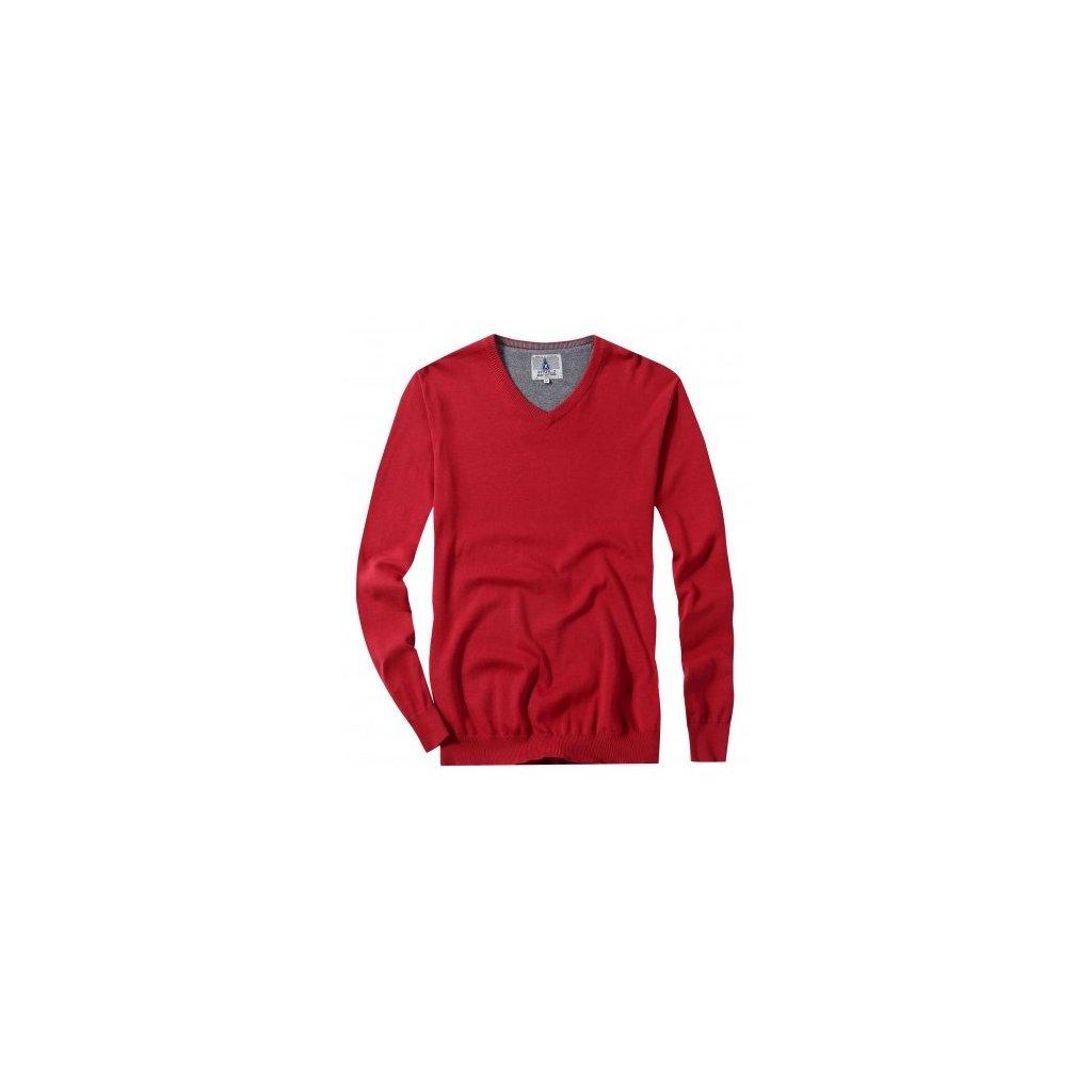 sweter meski serge bordowy