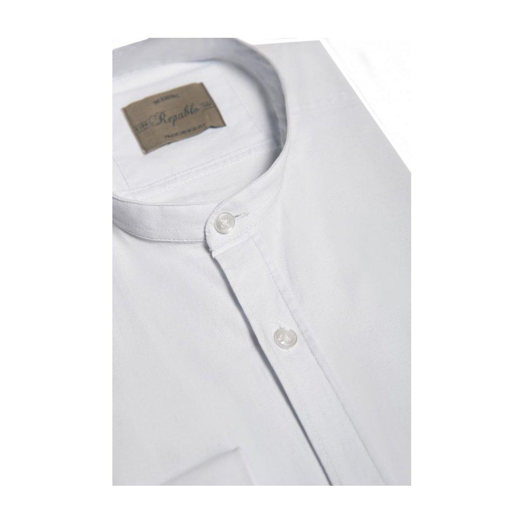koszula stojka biala