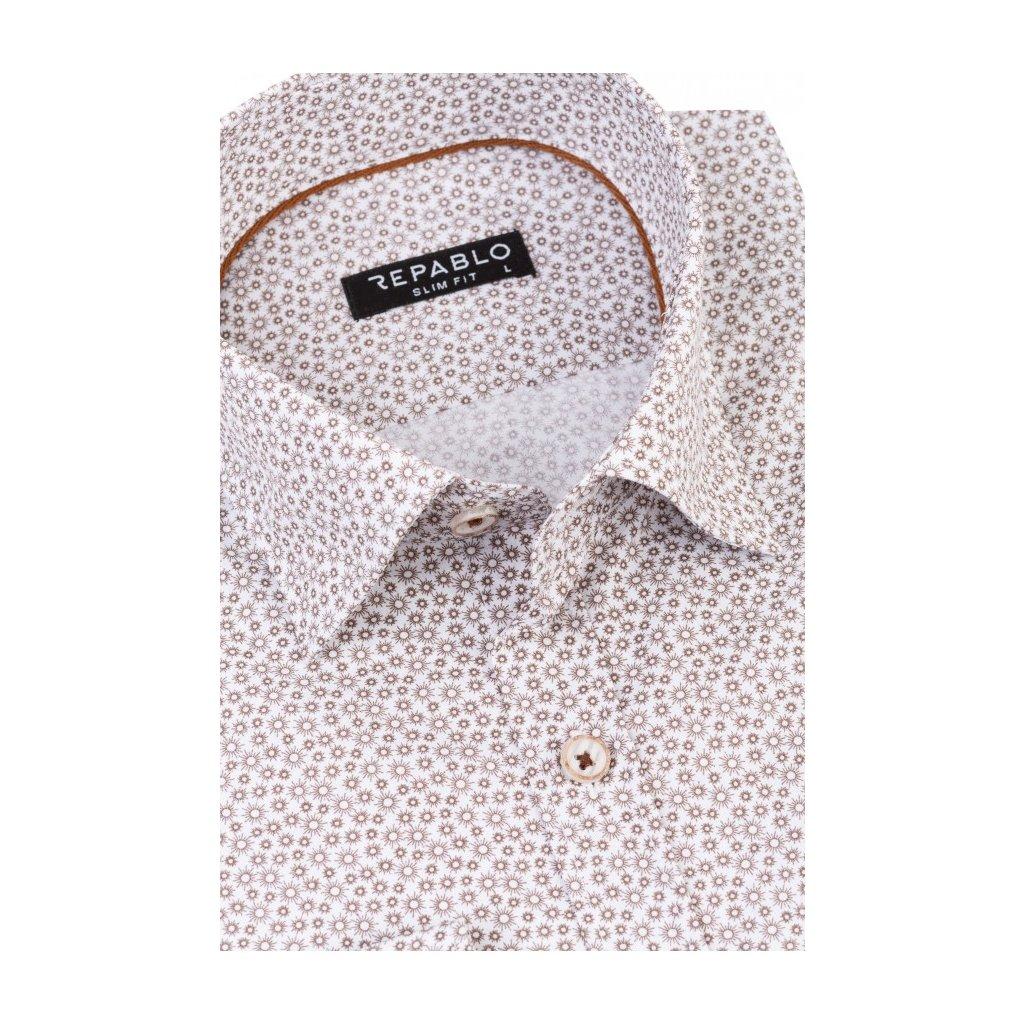 koszula meska jakub bialo brazowa