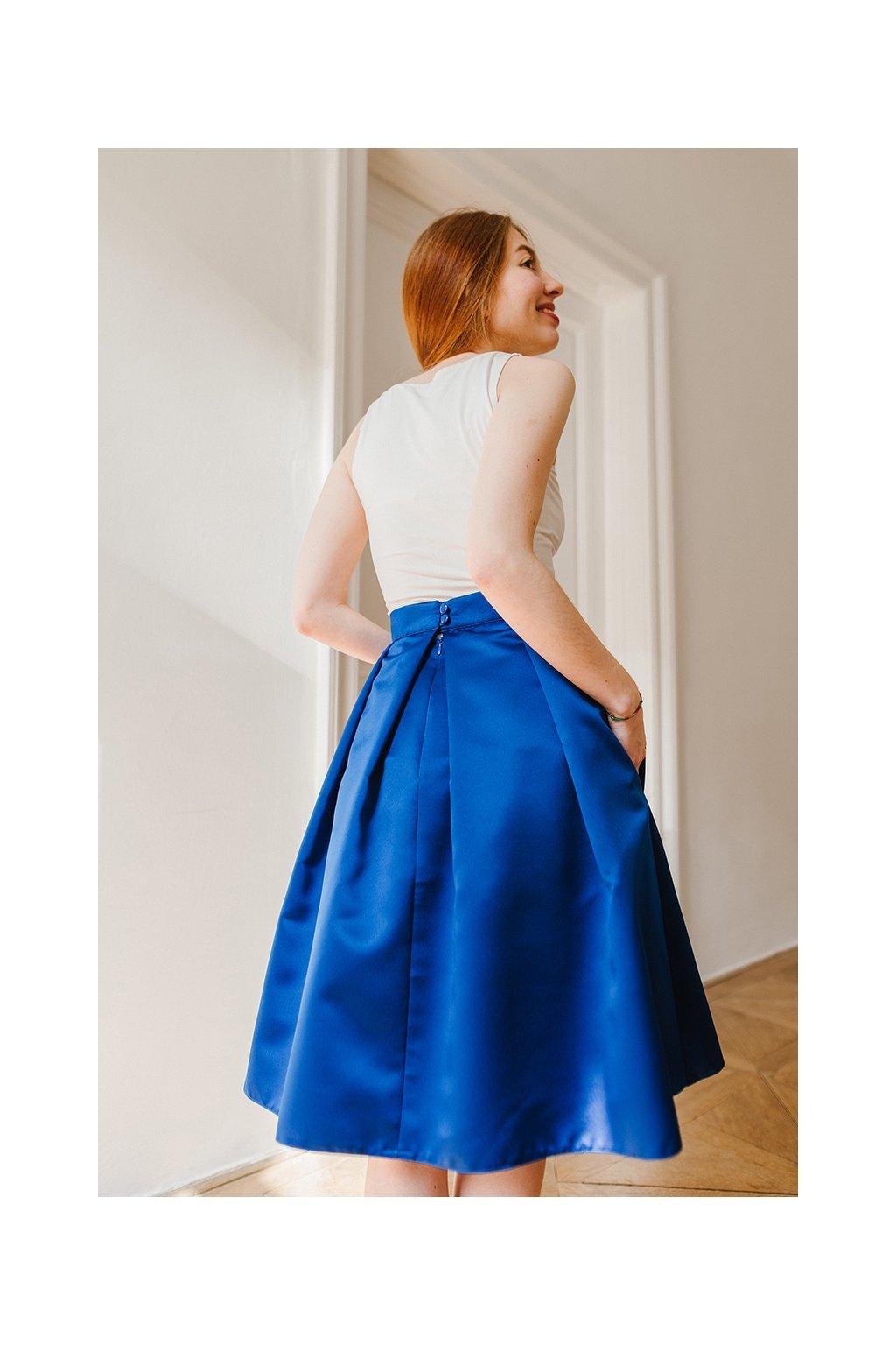 Reparada sukne pro princezny s tylem kralovsky modra1