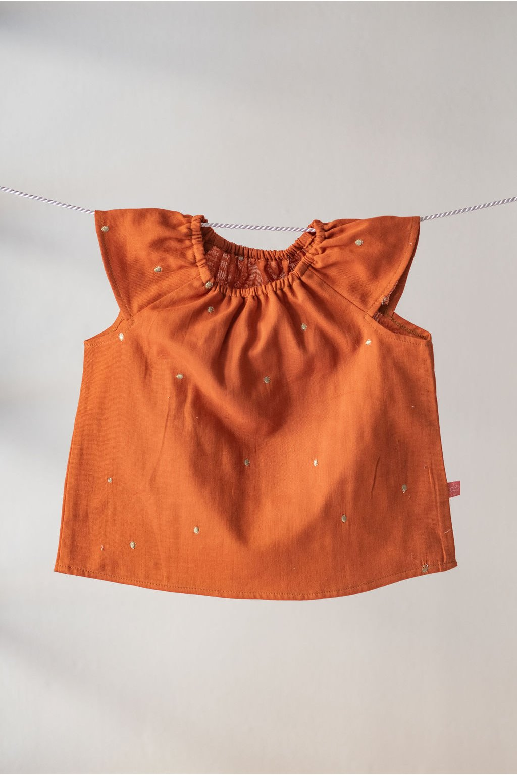 reparada detska halenka apolenka dvojita gazovina oranzova1