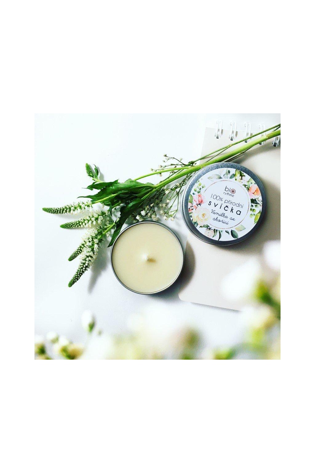 Biorythme: Extravagantně přírodní svíčka - Vanilka se skořicí