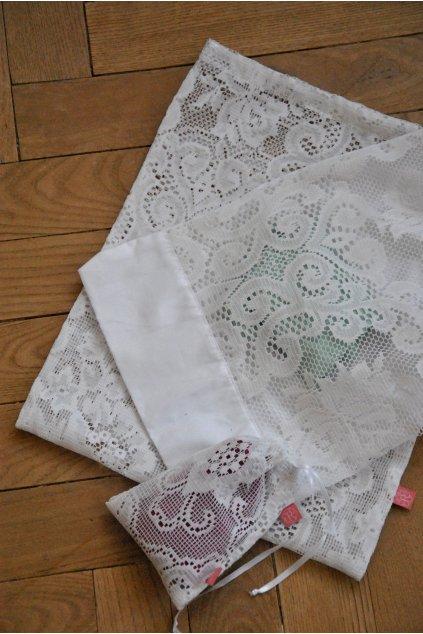 Zero waste záclonový sáček velký (30 x 38 cm)
