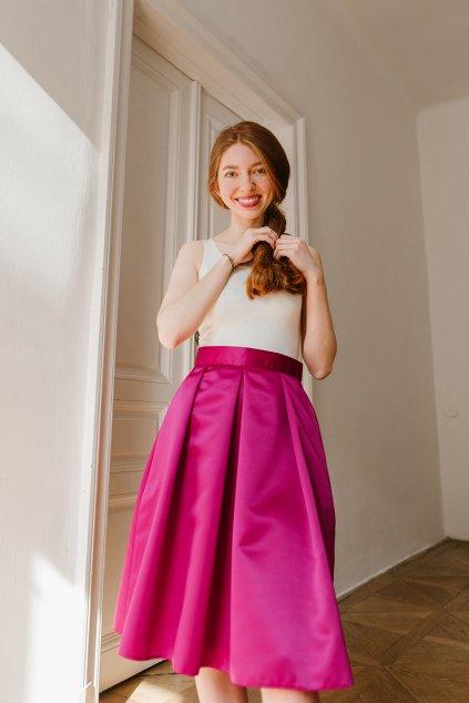 Reparada sukne pro princezny s tylem fuchsiova3