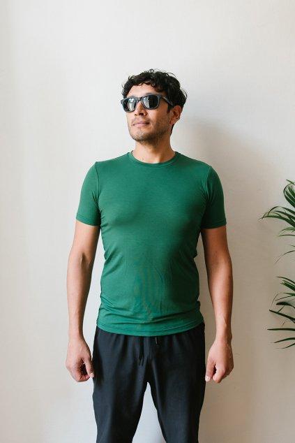Reparada panske bambusove tricko adam tmave zelene1