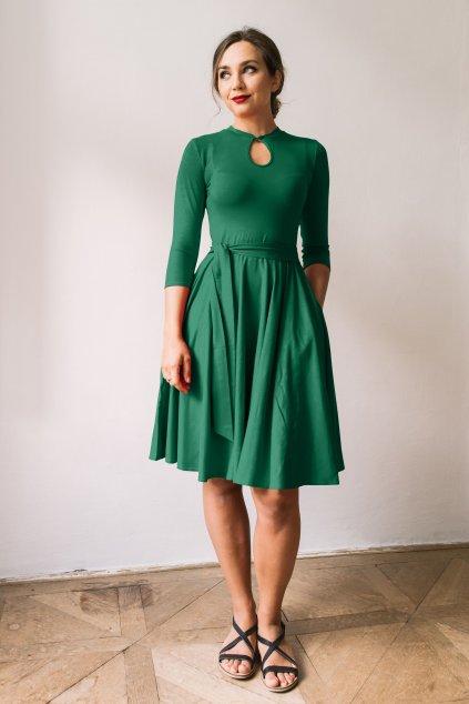 saty Adina 01 tmave zelena