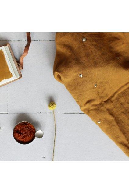 stardust ochre fabric