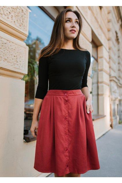 Reparada propinaci sukne tencel Azora cihlova3