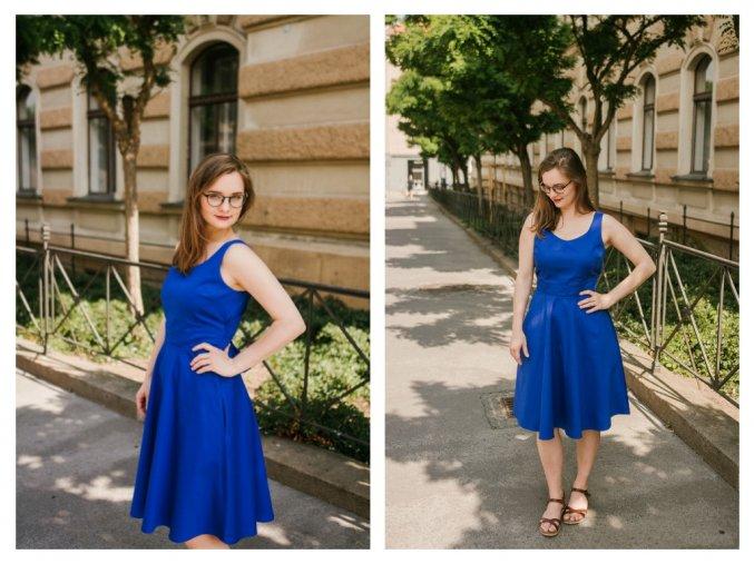 modré šaty titulka