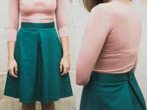 sukne s protiskladem zelená