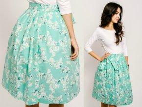 třešňové květy mátové zavinovací sukně reparada