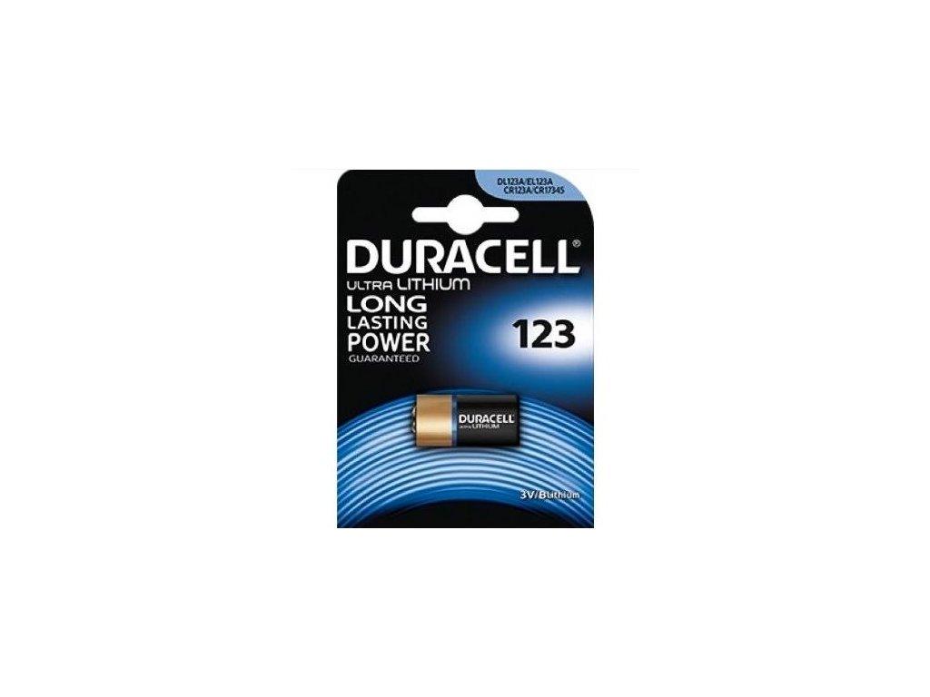 Baterie Duracell Ultra DL 123A, Lithium (fotobaterie), 1 ks v balení