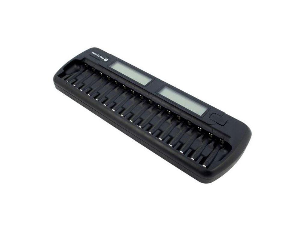 Nabíječka EverActive NC-1600 nabíječka pro 16ks AA/AAA baterií, Ni-CD, Ni-Mh