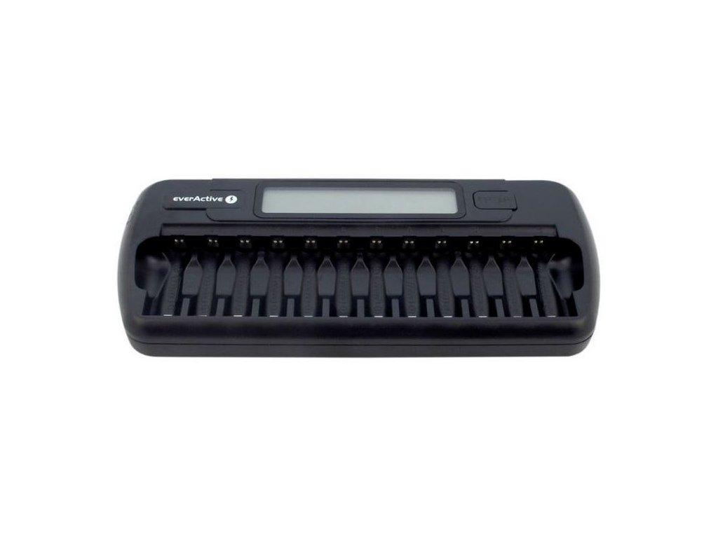Nabíječka EverActive NC-1200 nabíječka pro 12ks AA/AAA baterií, Ni-CD, Ni-Mh
