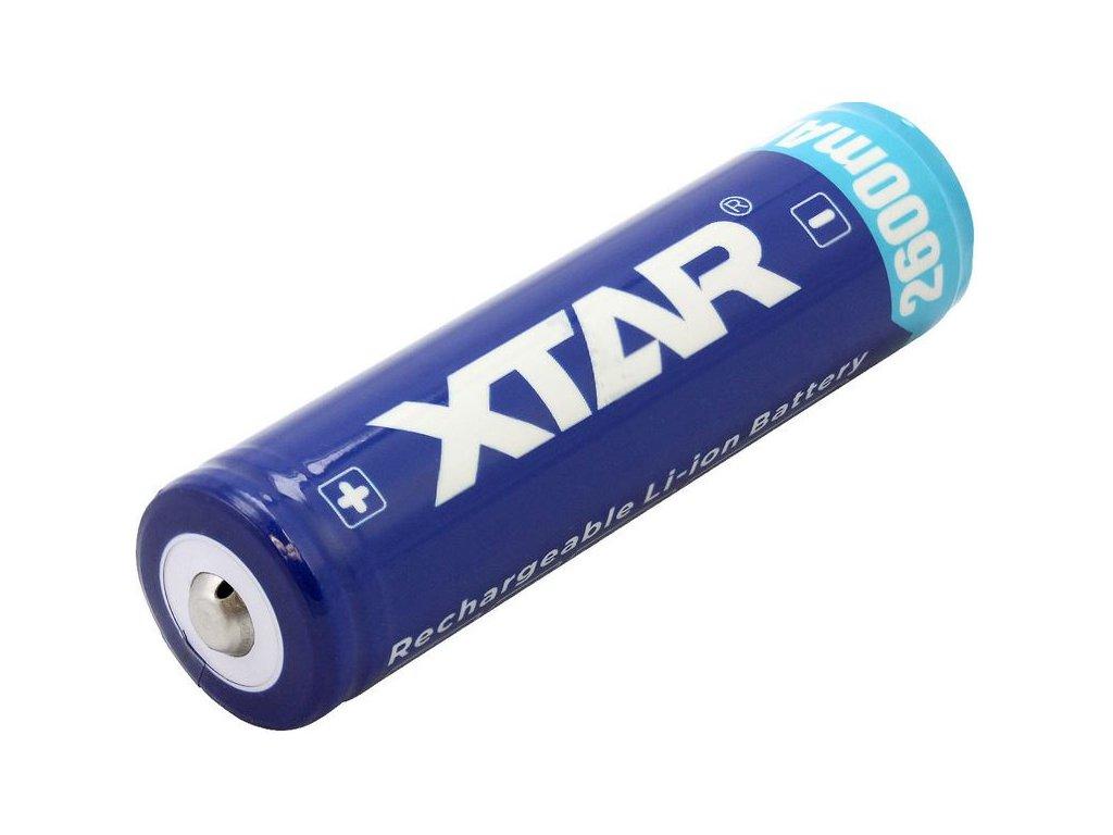 Akumulátor Xtar 2600mAh 18650, Li-ion, 3,7V, (včetně ochranného obvodu)