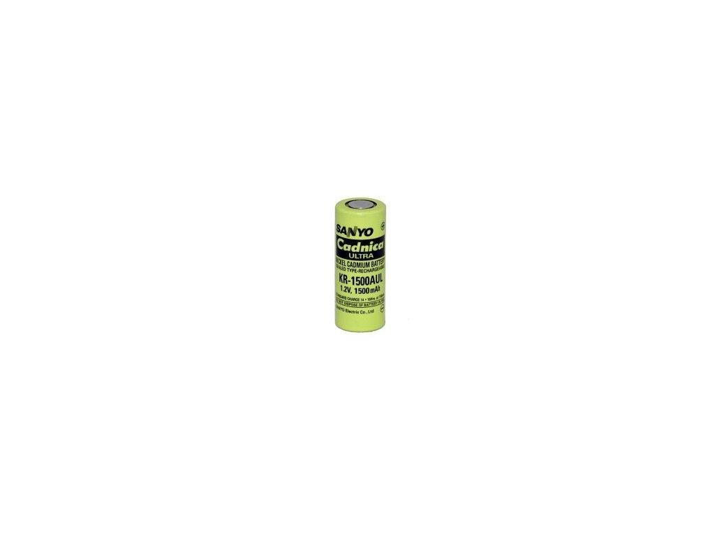 Akumulátor Sanyo KR-1500AUL, Ni-Cd, 4/5A, 1,2V - 1500mAh