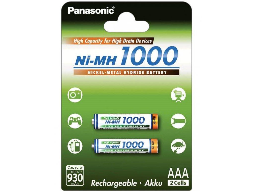 Baterie Panasonic BK-4HGAE nabíjecí, 1000mAh, Ni-Mh, AAA, (Blistr 2ks)