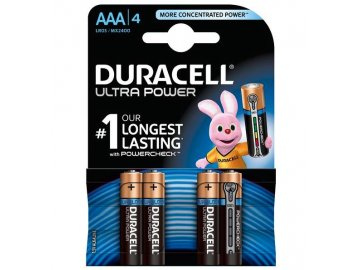 Baterie Duracell Ultra Power MX2400, AAA, (Blister 4ks)